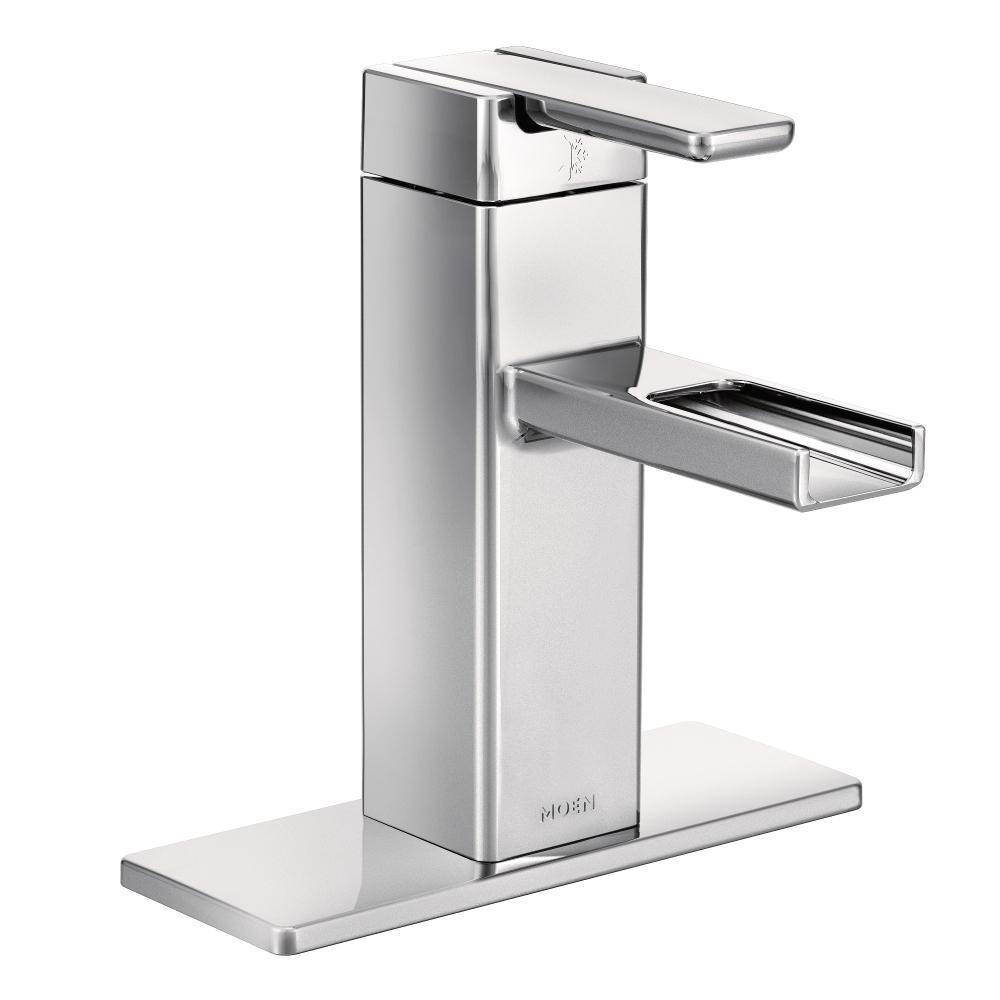 Moen S6705 90-Degree One-Handle Low-Arc Open Waterway Bathroom ...