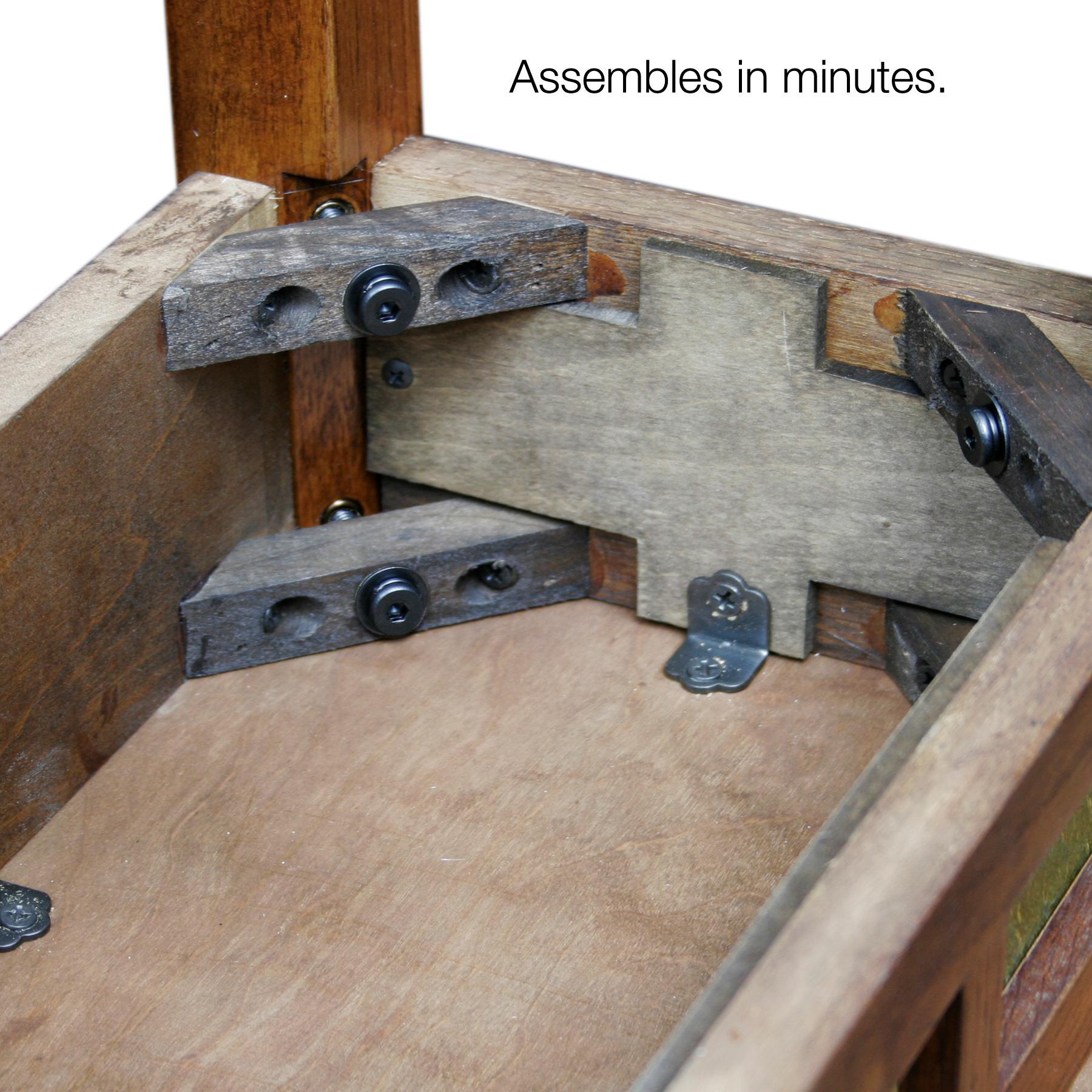 Amazon Com Leick 10056 Rustic Oak Slate Tile Recliner