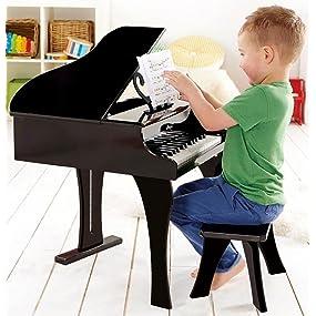 Amazon Com Hape Happy Grand Piano Toddler Wooden Musical
