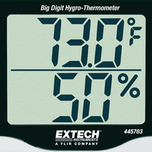 Hygrometer, Easy to Read Display