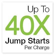 multiple jump starts, full power, lithium jump starter