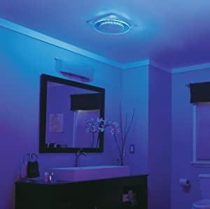 NuTone LunAura QTNLEDA Fan/Light/Nightlight, Ventilation Fan, 110-CFM, Lifestyle view of Nightlight