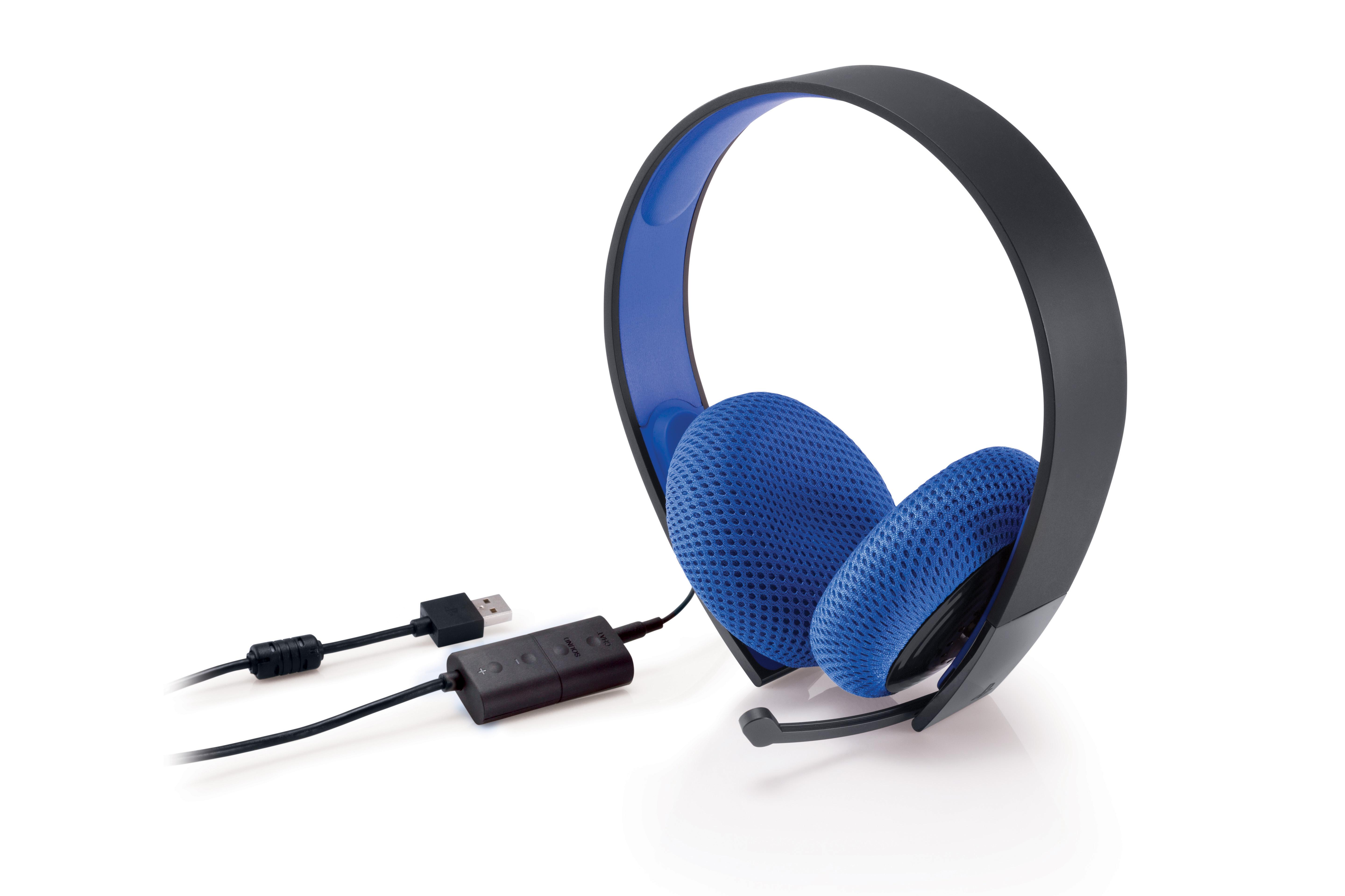 Playstation Silver Wired Stereo Headset Wiring Money Meaning View Larger