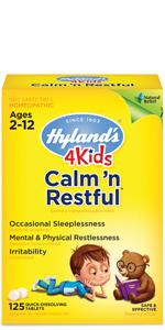 hylands calm n restful for kids;sleeping pills for kids;sleep aids for kids