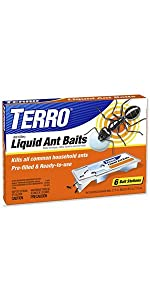 TERRO PreFilled Liquid Ant Killer II Baits 6 Pack