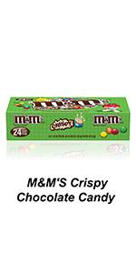 M&M'S Chocolate Crispy Pieces in singles and sharing size pouches for all to enjoy