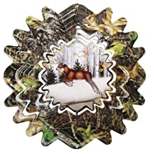Iron Stop Mossy Oak Animated Deer Wind Spinner