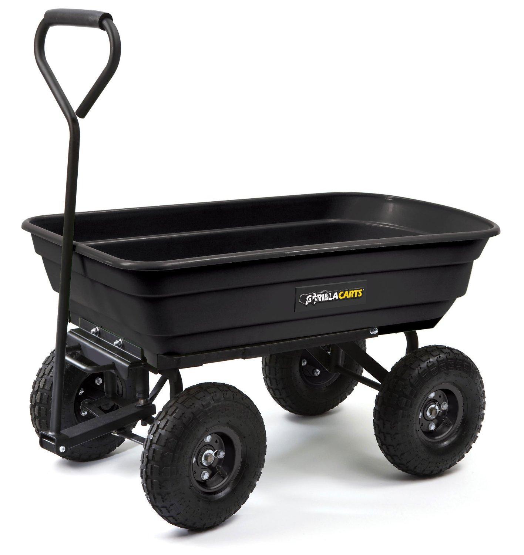 Amazon Com Gorilla Carts Gor200b Poly Garden Dump Cart