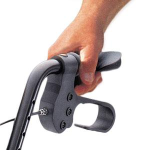 Hugo Elite Rollator Walker ergonomic hand grip with brake handle