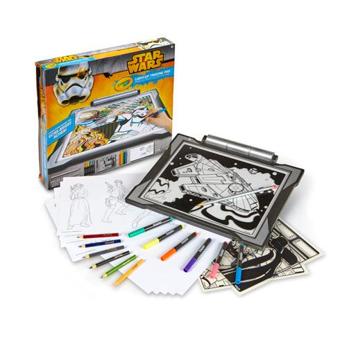 Amazon Com Crayola Star Wars Light Up Tracing Pad Toys