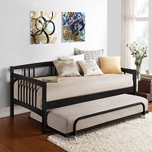 Amazon Com Dorel Living Kayden Daybed Solid Wood Twin