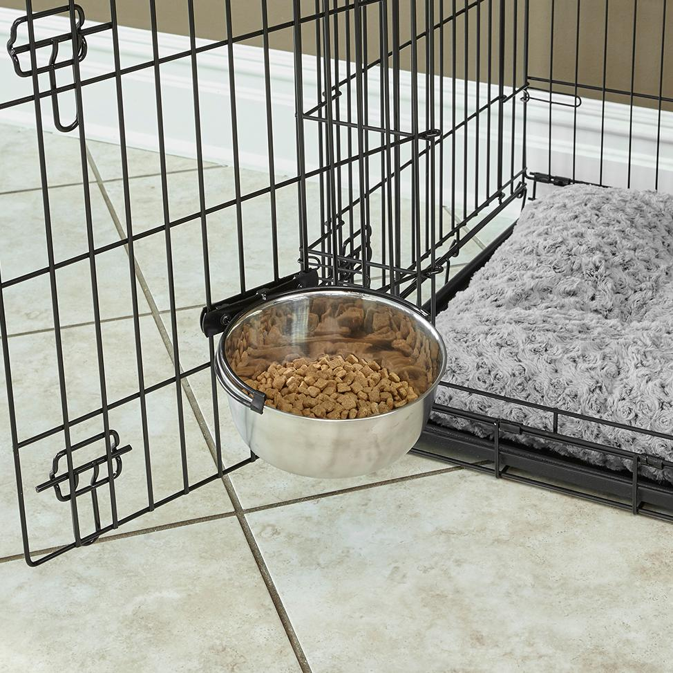 Amazon.com : MidWwest Homes for Pets Snap'y Fit Stainless Steel Food