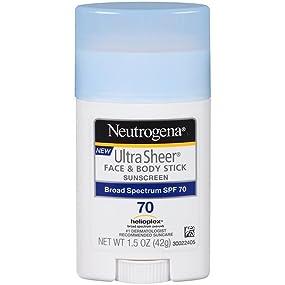 NEUTROGENA ULTRA SHEER Face & Body Sunscreen Stick SPF 70