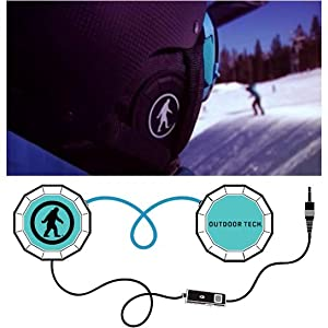 Outdoor Tech Wired Chips on helmet