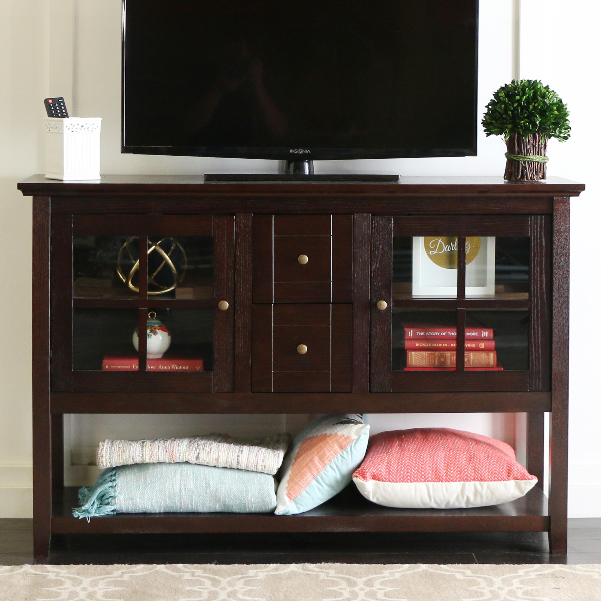 Amazon WE Furniture 52 Console Table Wood TV Stand