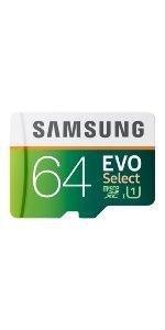 Samsung 64GB EVO Select microSDXC Memory Card