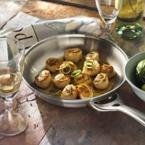 Calphalon Contemporary Stainless Steel 8-Inch and 10-Inch Fry Pan Set
