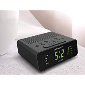 Amazon Com Emerson Smartset Alarm Clock Radio Cks1800