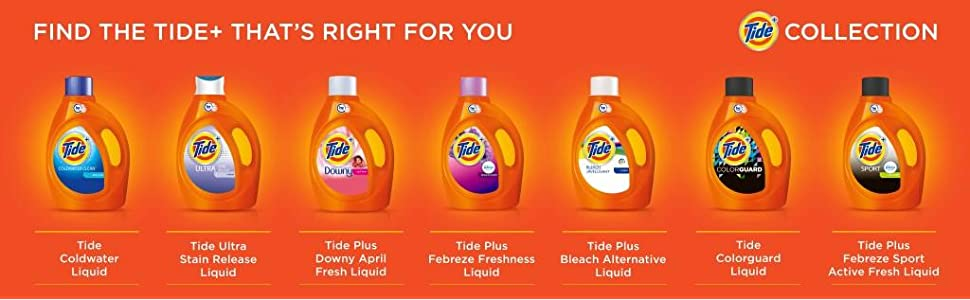 Tide Ultra Stain Release Original Scent HE Turbo Clean Liquid Laundry Detergent, plus collection