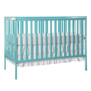 large box designs inch solid length carousel crib cribs pleat skirt teal