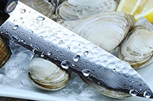 Yoshihiro VG-10 stainless steel 46 Layers Hammered Damascus Gyuto chefs knife