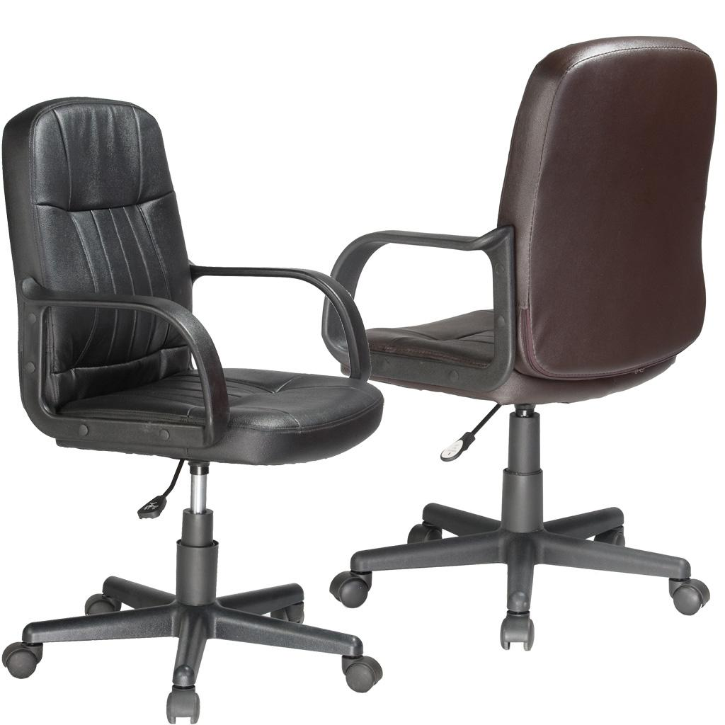 Comfort Products Leather Mid-Back Office Chair  sc 1 st  Amazon.com & Amazon.com: Comfort Products Mid-Back Leather Office Chair: Kitchen ...