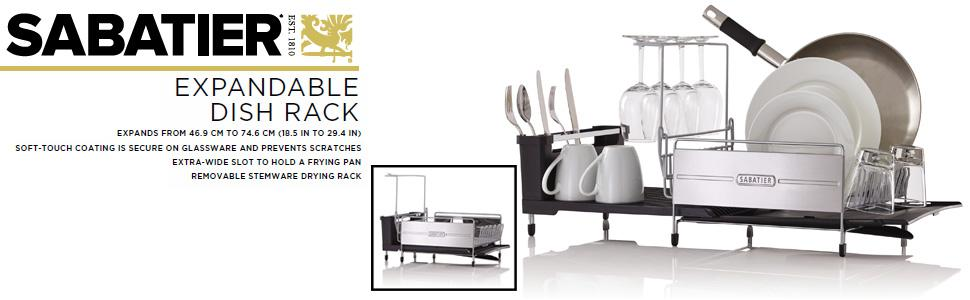 Amazon Sabatier Expandable Dish Rack With Soft Touch Coating Inspiration Sabatier Expandable Dish Rack With Soft Touch Coating