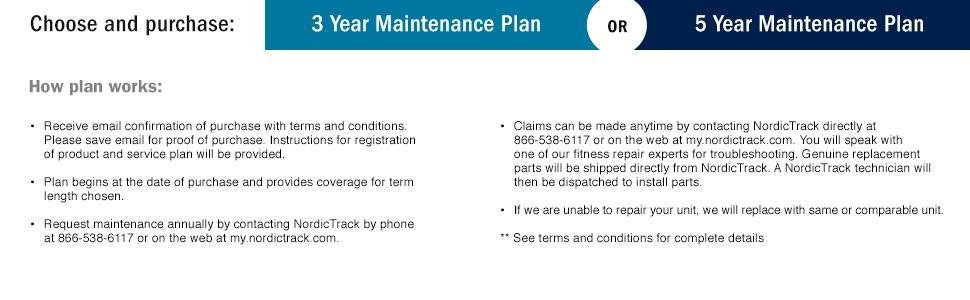 Amazon Nordictrack Care 3 Year Annual Maintenance Plan For