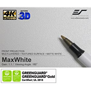 maxwhite; elite screens; manual pull down projector screen; best projection; blackout cloth