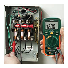 Extech, EX205T, RMS, multimeter, lightweight, ergonomic