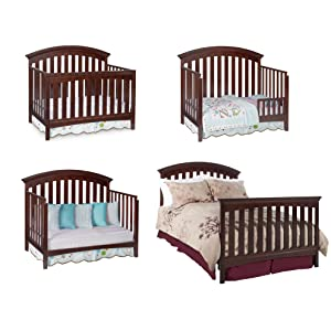 Amazoncom Delta Children Bentley 4 In 1 Crib White Baby