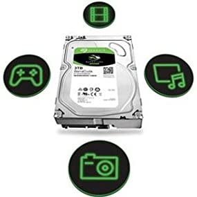 "Seagate 3TB BarraCuda SATA 6Gb/s 64MB Cache 3.5"" Internal Hard Drive ST3000DM008 2"