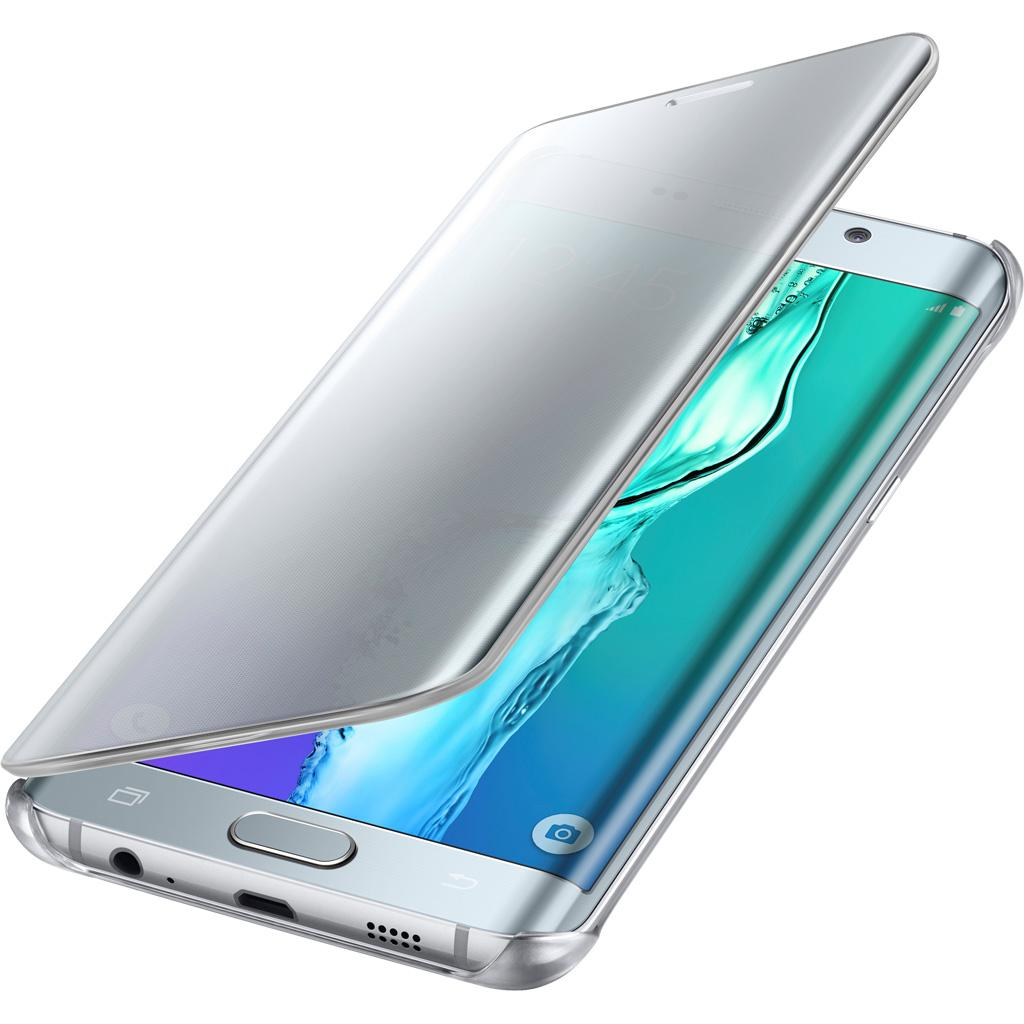 3d6b3845d1 Amazon.com: Samsung Galaxy S6 Edge Plus Case S-View Clear Flip Cover ...
