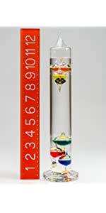 Galileo Glass Thermometers, specialty thermometers, decorative thermometers
