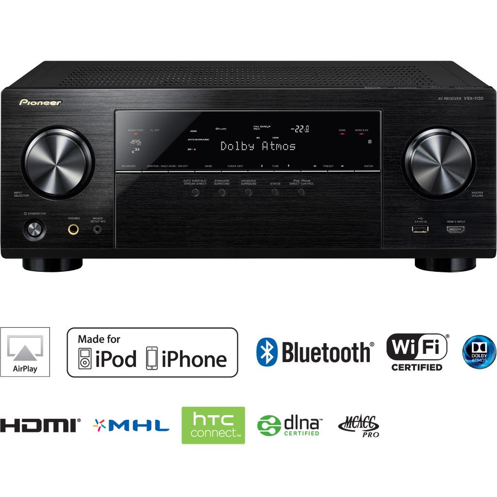 Amazon.com: Pioneer VSX-1130-K 7.2-Channel AV Receiver with Built-in ...