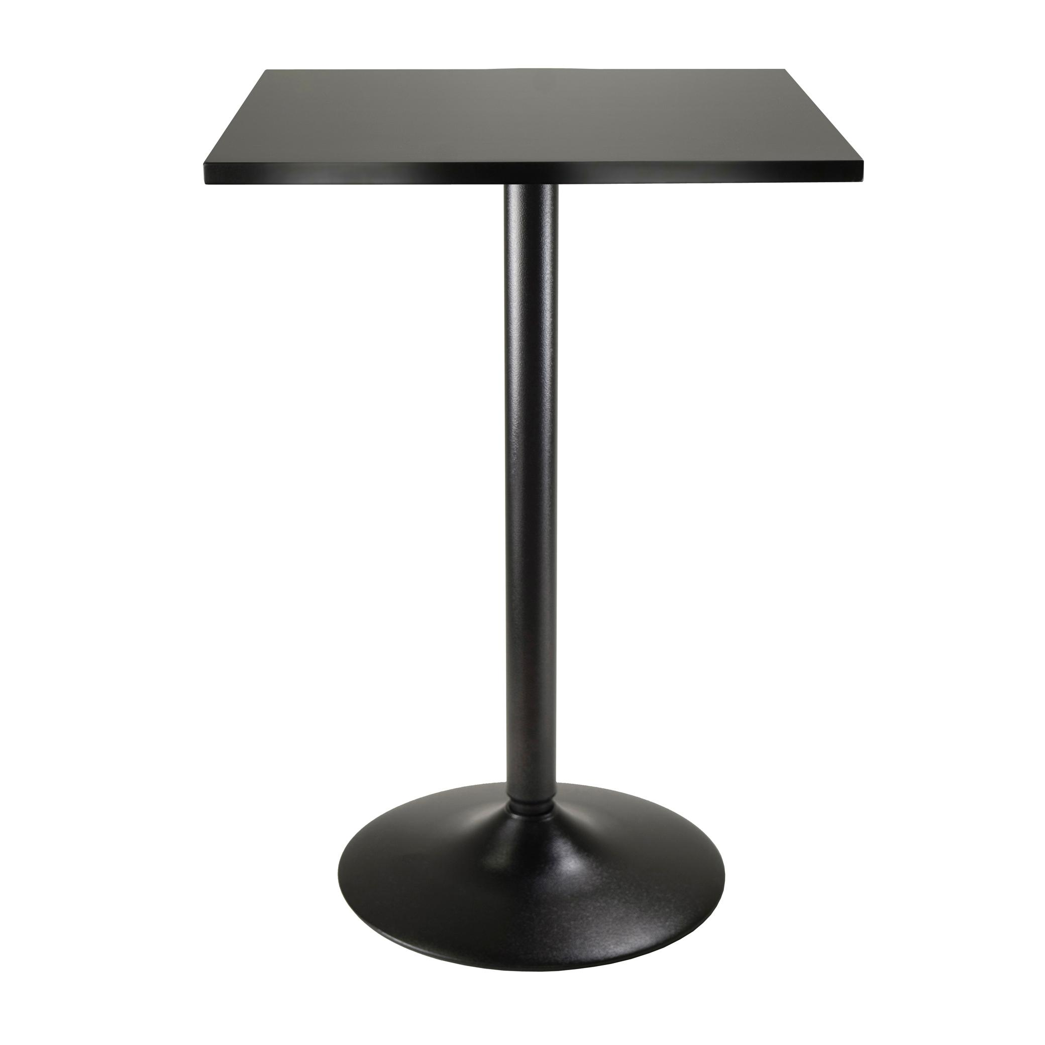 view larger. amazoncom winsome obsidian high table square black mdf top with