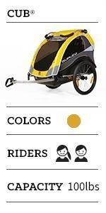 cub, burley, thule, stroller, trailer, bike