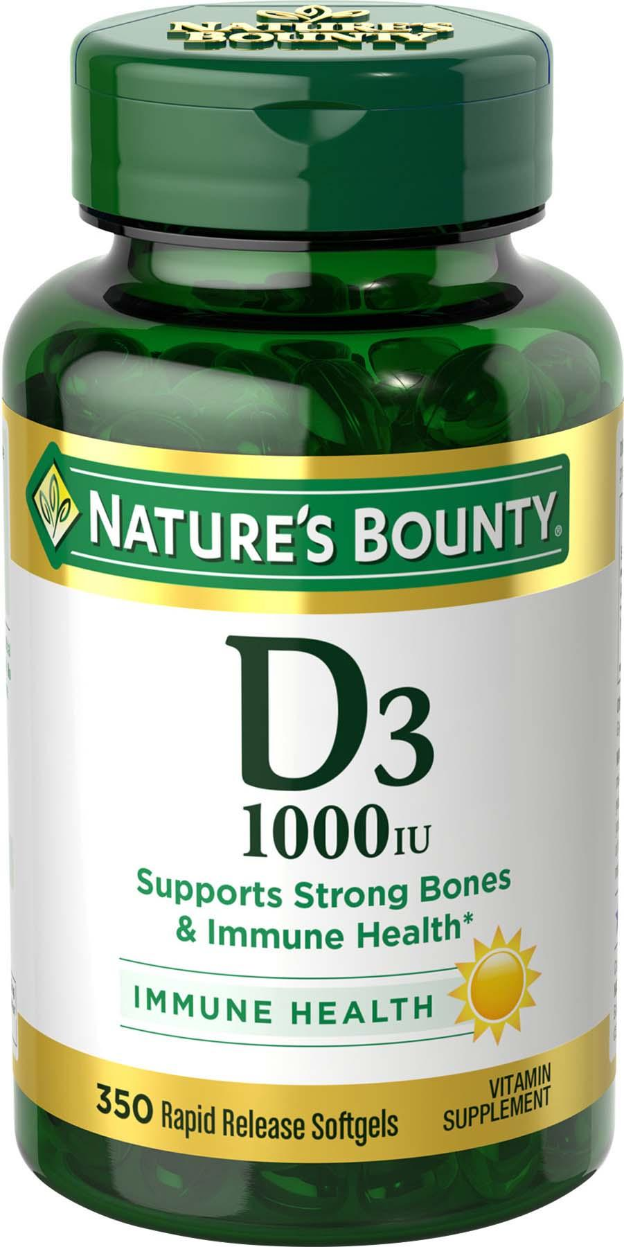 nature 39 s bounty vitamin d3 1000 iu softgels. Black Bedroom Furniture Sets. Home Design Ideas