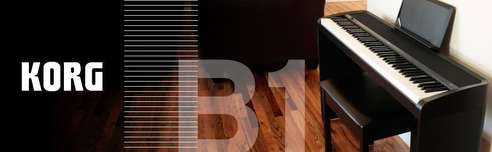 korg b1 88 key digital piano with enhanced speaker system black musical instruments. Black Bedroom Furniture Sets. Home Design Ideas