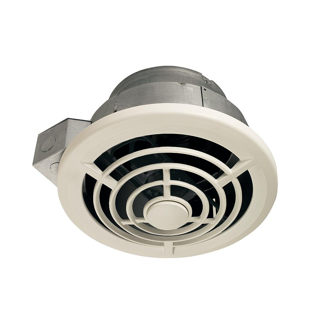 Nutone 8210 8 Inch Vertical Discharge And 7 Inch Round Duct Ceiling Fan