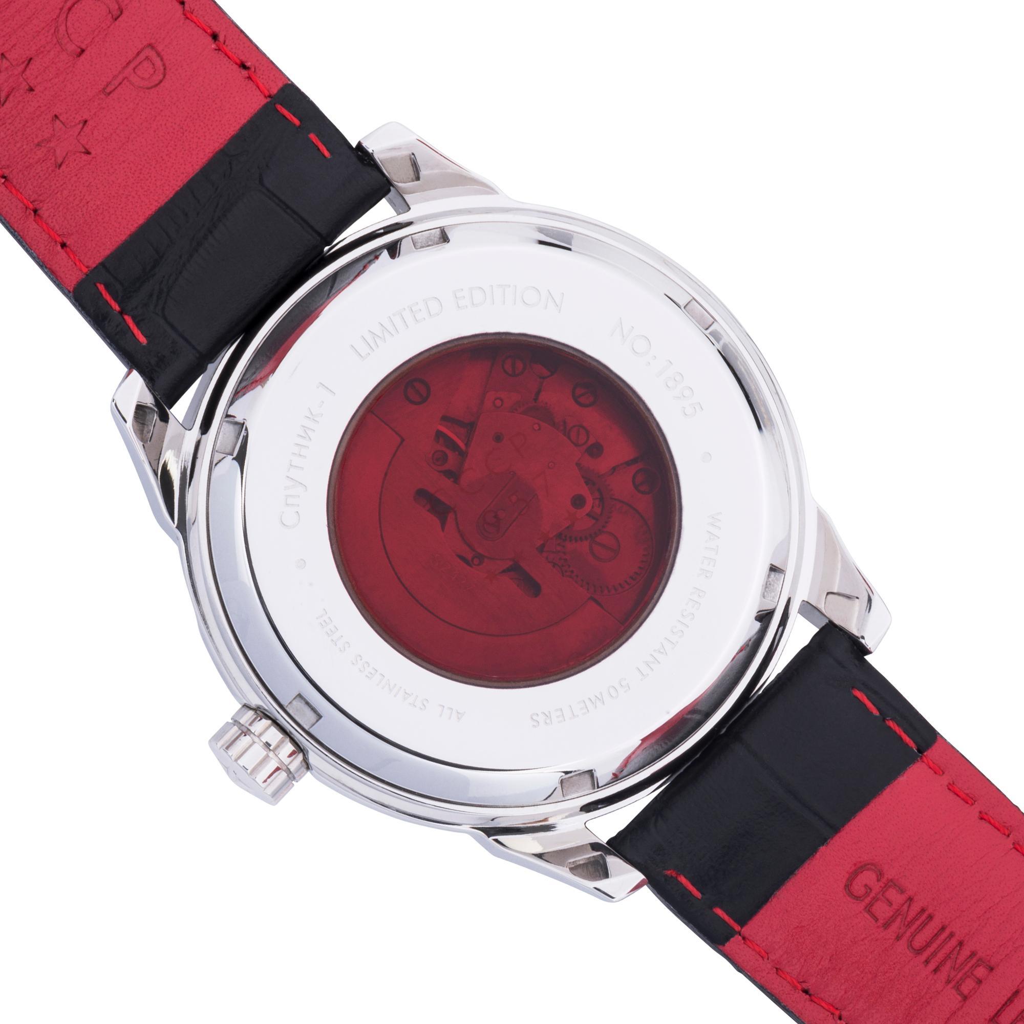 CCCP Men s CP 7001 02 Sputnik 1 Limited Edition Analog Display Automatic Self Wind Black Watch