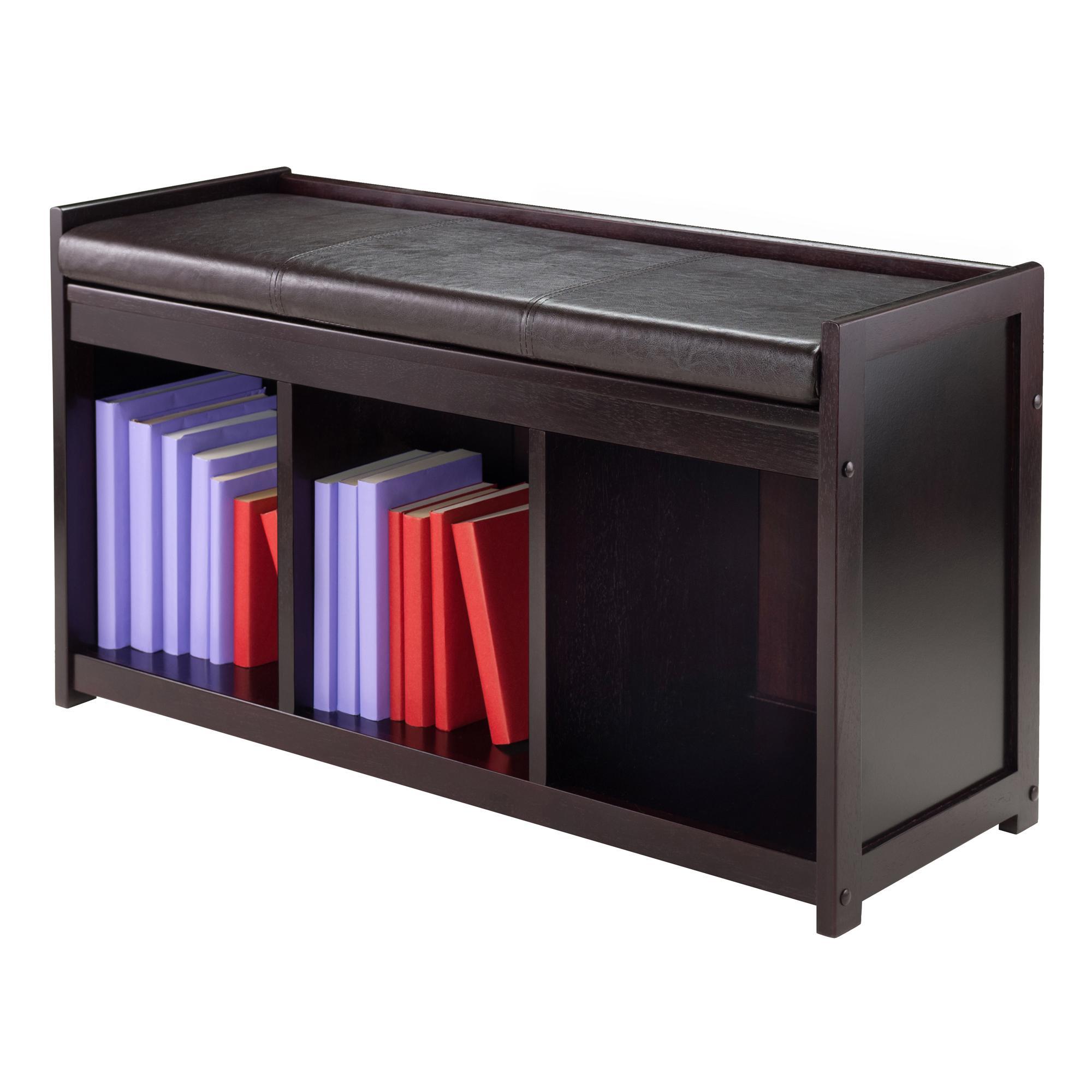 Amazon Com Winsome Wood Addison 2 Piece Storage Bench