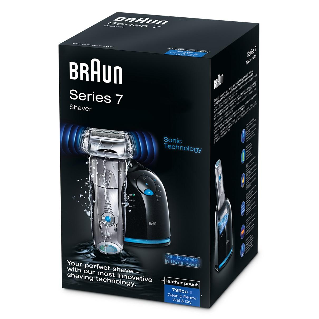 braun series 7 wet dry shaver white 1 4. Black Bedroom Furniture Sets. Home Design Ideas
