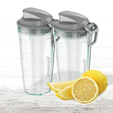 Two BPA-Free Juicing Cups
