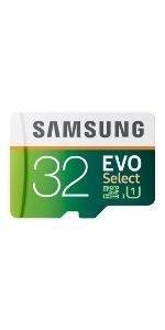 Samsung 32GB EVO Select microSDHC Memory Card
