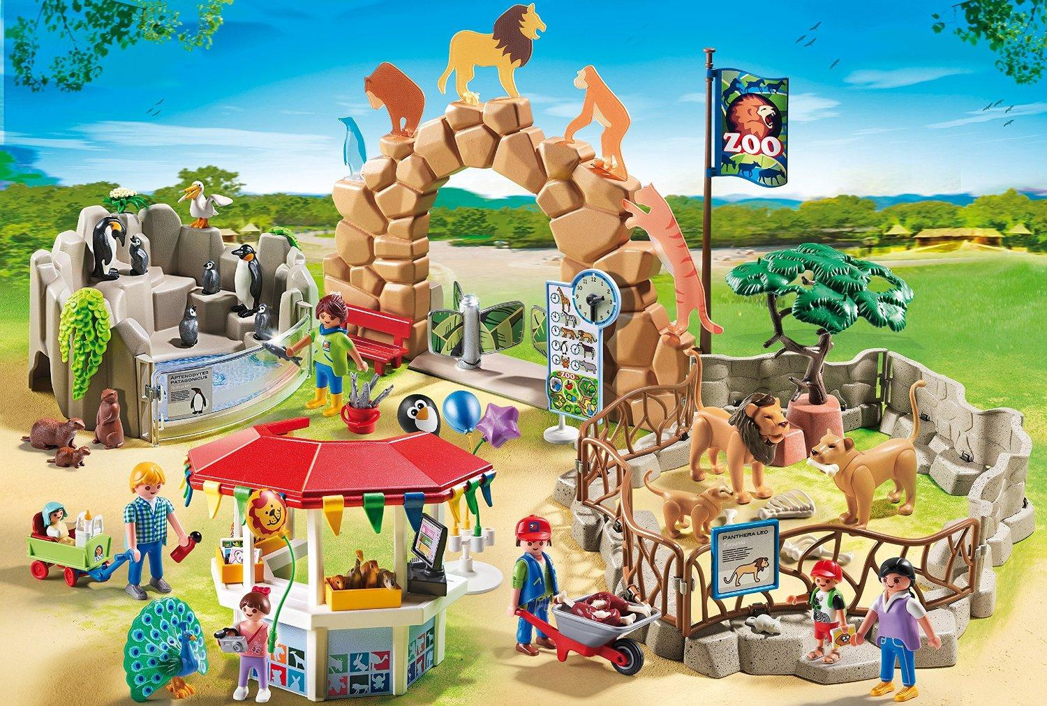 playmobil large city zoo toys games. Black Bedroom Furniture Sets. Home Design Ideas