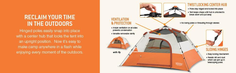 View larger  sc 1 st  Amazon.com & Amazon.com : Wenzel EZ Rise 3 Tent 6.8 x 6.8-Feet : Sports u0026 Outdoors