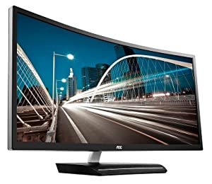 "AOC C3583FQ 35"" VA Curved LED Monitor 2560 x 1080 Res 21:9, 300 cd/m2, 4ms,VGA/DVI/(2) HDMI/(2) DP,"