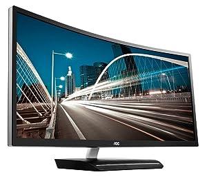 "AOC C3583FQ 35"" VA Curved LED Monitor 2560 x 1080 Res 21:9, 300 cd/m2, 4ms,VGA/DVI/(2) HDMI/(2) DP,"