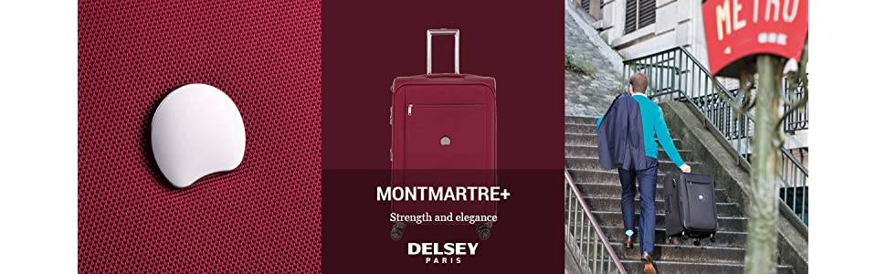 montmartre, soft side luggage, delsey luggage, luggage, carry on luggage, carry on, checked, wheeled